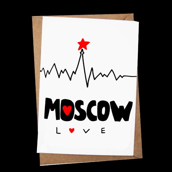 Открытка «Moscow. Love»