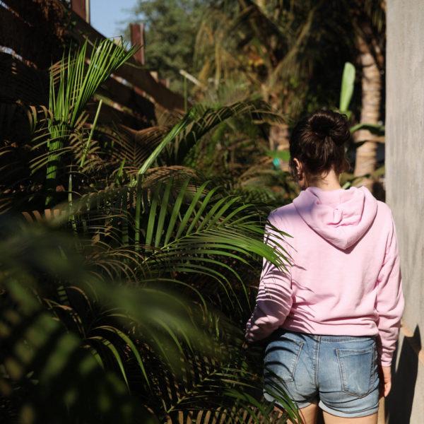 Свитшот «Булочки в моём животе» худи купить с надписью Морда Довольна