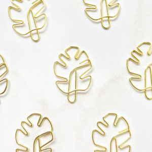 Скрепка-закладка «Тропический лист»