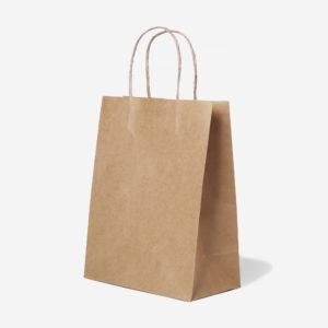 Купить подарочный пакет крафт с крученными ручками для подарка в магазине канцелярии Морда Довольна