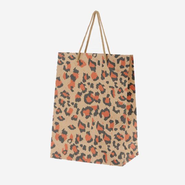 Подарочный пакет с леопардовым принтом пакет для подарка