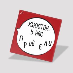 Магнит «Хьюстон, у нас пробелы» Морда Довольна mordadovolna.com modoband.ru