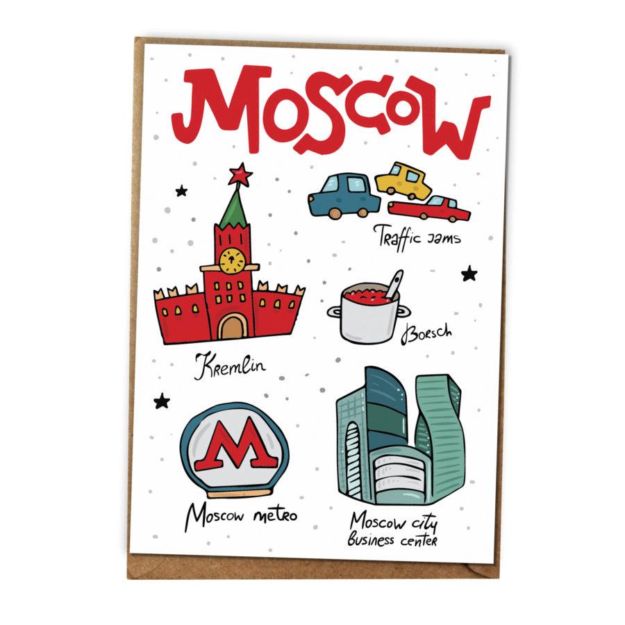 открытки Москва в магазине открыток и подарков Морда Довольна