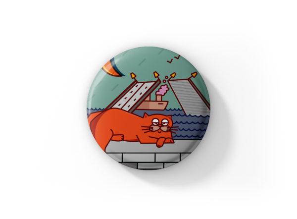 купить значок санкт-петербург круглый значок с булавкой