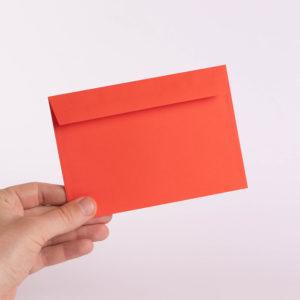конверт для открытки оранжевый