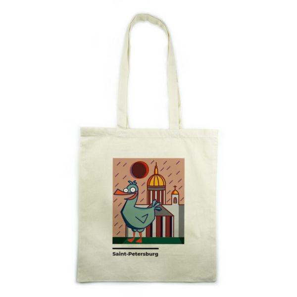 холщовая эко-сумка шоппер купить в питере