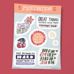 мотивирующие наклейки с мотивирующими цитатами на английском купить в москве