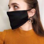многоразовые маски для лица черные