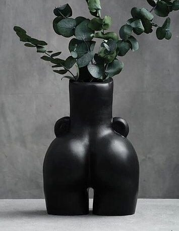 креативная ваза органайзер кашпо в форме женского силуэта