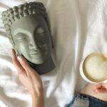 креативная ваза в форме головы Будды