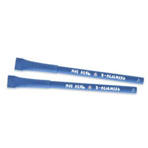эко ручка шариковая бумажная синяя